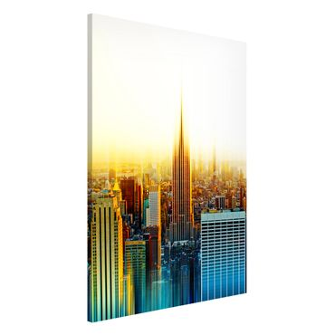 Magnettafel - Manhattan Abstrakt - Memoboard Hoch