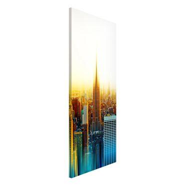 Magnettafel - Manhattan Abstrakt - Memoboard Panorama Hoch