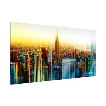 Magnettafel - Manhattan Abstrakt - Memoboard Panorama Quer