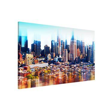 Magnettafel - Manhattan Skyline Urban Stretch - Memoboard Quer