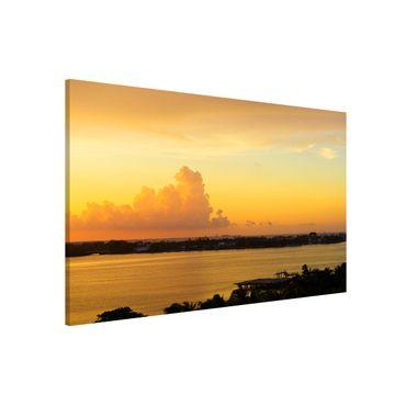 Magnettafel - Mexiko Sonnenuntergang - Memoboard Panorama Quer