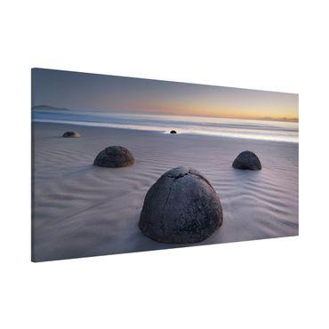 Magnettafel - Moeraki Boulders Neuseeland - Memoboard Panorama Quer