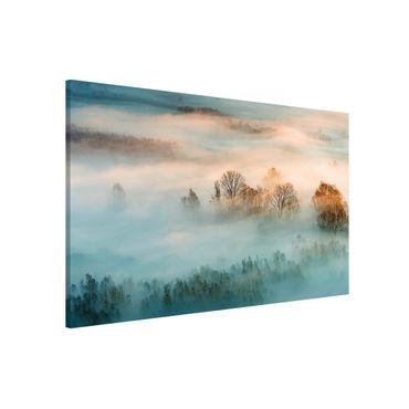 Magnettafel - Nebel bei Sonnenaufgang - Memoboard Querformat