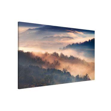 Magnettafel - Nebel bei Sonnenuntergang - Memoboard Querformat