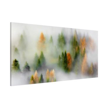 Magnettafel - Nebelwald im Herbst - Memoboard Panorama Querformat 1:2