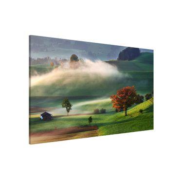 Magnettafel - Nebliger Herbsttag Schweiz - Memoboard Querformat 2:3