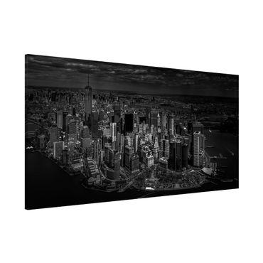 Magnettafel - New York - Manhattan aus der Luft - Memoboard Panorama Querformat 1:2
