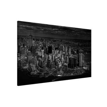 Magnettafel - New York - Manhattan aus der Luft - Memoboard Querformat 2:3