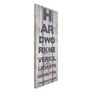 Magnettafel - No.RS180 Hard Work - Memoboard Panorama Hoch