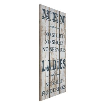 Magnettafel - No.RS181 Men and Ladies - Memoboard Panorama Hoch
