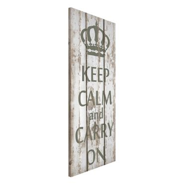 Magnettafel - No.RS183 Keep Calm and carry on - Memoboard Panorama Hoch