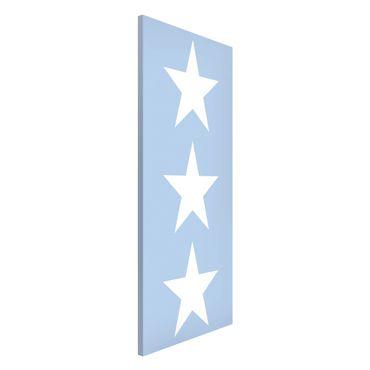 Magnettafel - Große Weiße Sterne auf Blau - Memoboard Panorama Hoch