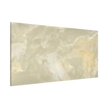 Magnettafel - Onyx Marmor Creme - Memoboard Panorama Quer