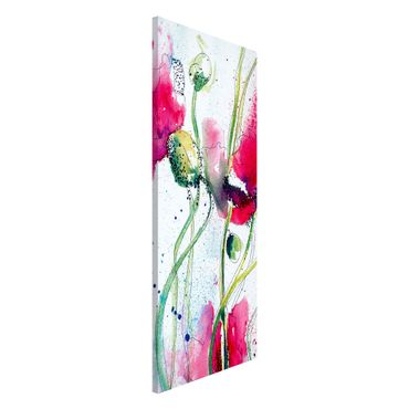 Magnettafel - Painted Poppies - Memoboard Panorama Hoch