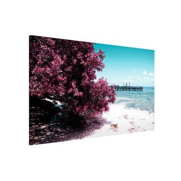 Magnettafel - Paradies Strand Isla Mujeres - Memoboard Panorama Quer