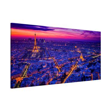 Magnettafel - Paris bei Nacht - Memoboard Panorama Querformat 1:2
