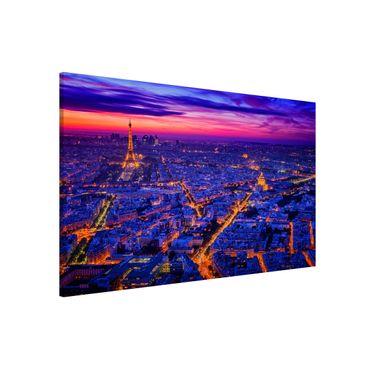 Magnettafel - Paris bei Nacht - Memoboard Querformat 2:3