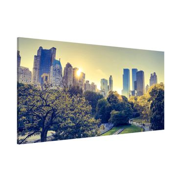 Magnettafel - Peaceful Central Park - Memoboard Panorama Quer