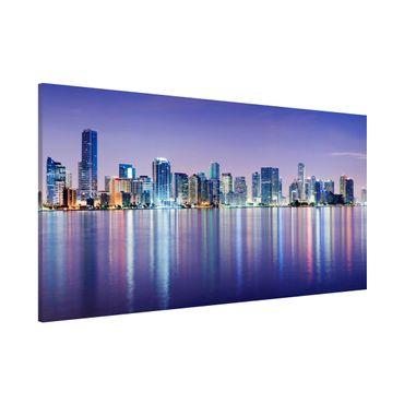 Magnettafel - Purple Miami Beach - Memoboard Panorama Quer