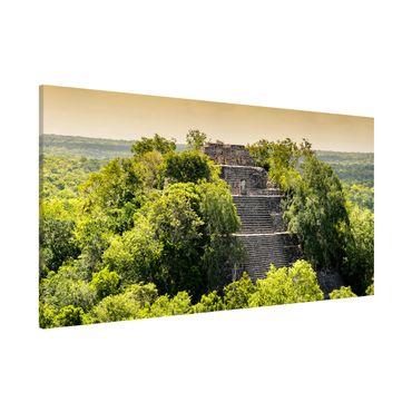 Magnettafel - Pyramide von Calakmul - Memoboard Panorama Quer