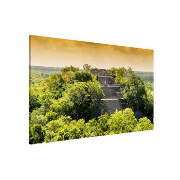 Magnettafel - Pyramide von Calakmul - Memoboard Quer