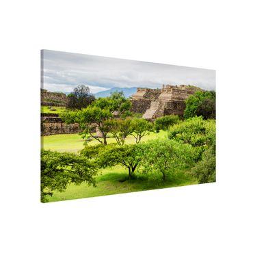 Magnettafel - Pyramide von Monte Alban - Memoboard Panorama Quer