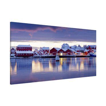 Magnettafel - Reine in Norwegen - Memoboard Panorama Querformat