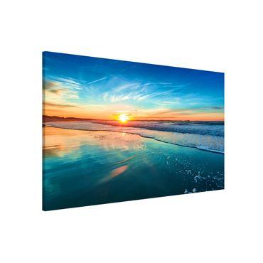 Magnettafel - Romantischer Sonnenuntergang am Meer - Memoboard Panorama Querformat