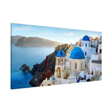 Magnettafel - Santorini - Memoboard Panorama Quer