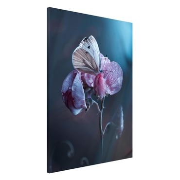 Magnettafel - Schmetterling im Regen - Memoboard Hoch