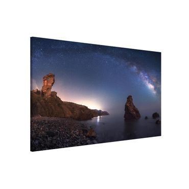 Magnettafel - Sea of galaxies - Memoboard Querformat
