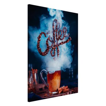 Magnettafel - Smell the coffee - Memoboard Hoch