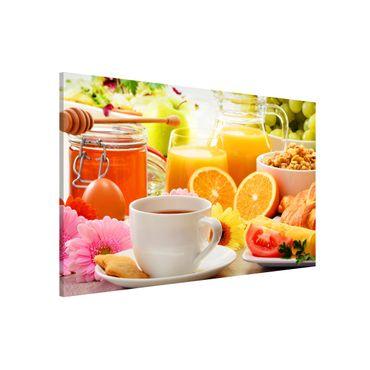 Magnettafel - Sommerlicher Frühstückstisch - Memoboard Querformat