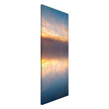 Magnettafel - Sonnenaufgang schwedischer See - Memoboard Panorama Hochformat 2:1