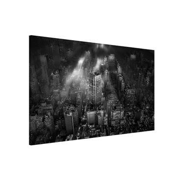 Magnettafel - Sonnenlicht über New York City - Memoboard Querformat 2:3