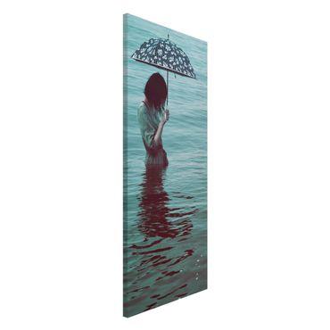 Magnettafel - Spaziergang im Wasser - Memoboard Panorama Hochformat 2:1