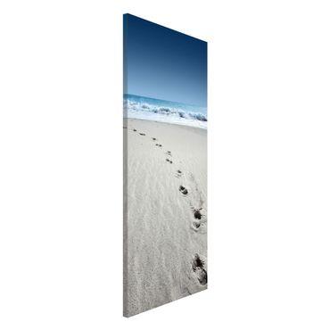Magnettafel - Spuren im Sand - Memoboard Panorama Hoch