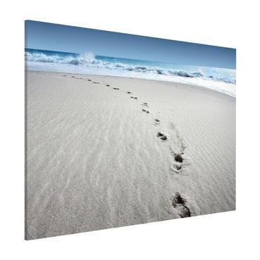 Magnettafel - Spuren im Sand - Memoboard Quer