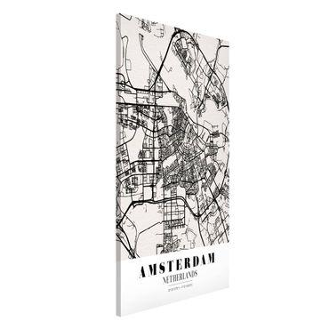 Magnettafel - Stadtplan Amsterdam - Klassik - Memoboard Hochformat