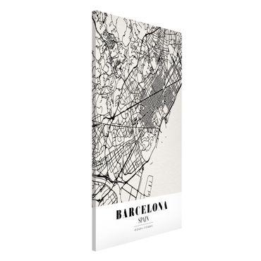 Magnettafel - Stadtplan Barcelona - Klassik - Memoboard Hochformat