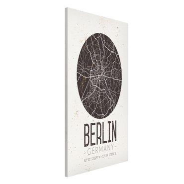 Magnettafel - Stadtplan Berlin - Retro - Memoboard Hochformat