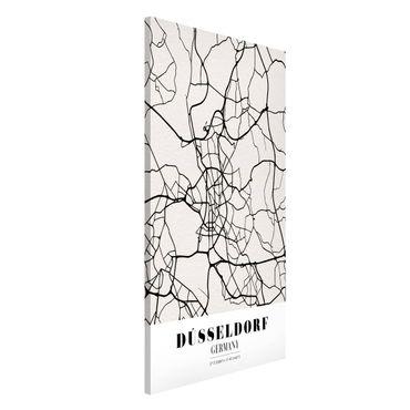 Magnettafel - Stadtplan Düsseldorf - Klassik - Memoboard Hochformat