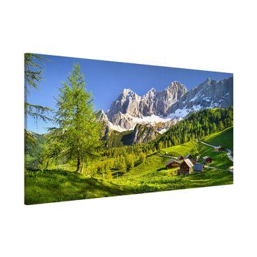 Magnettafel - Steiermark Almwiese - Memoboard Panorama Hochformat
