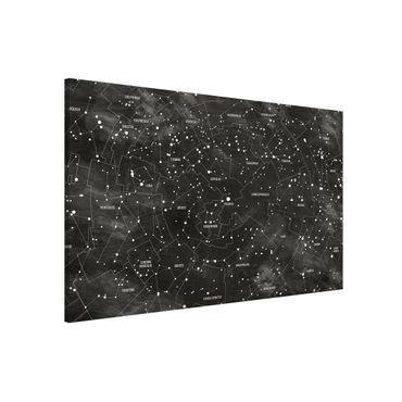 Magnettafel - Sternbild Karte Tafeloptik - Memoboard Querformat