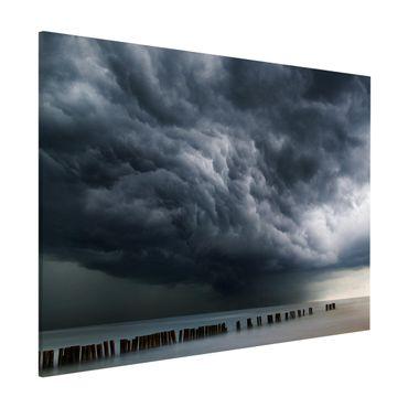 Magnettafel - Sturmwolken über der Ostsee - Memoboard Querformat 3:4