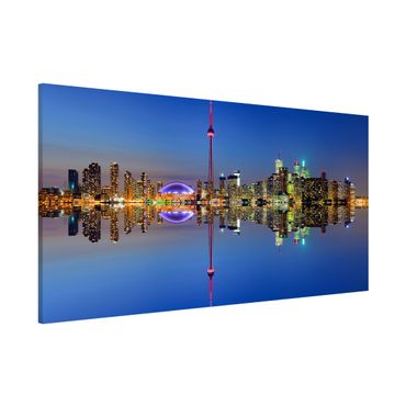 Magnettafel - Toronto City Skyline vor Lake Ontario - Memoboard Panorama Quer