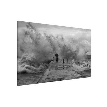Magnettafel - Tosendes Meer - Memoboard Querformat