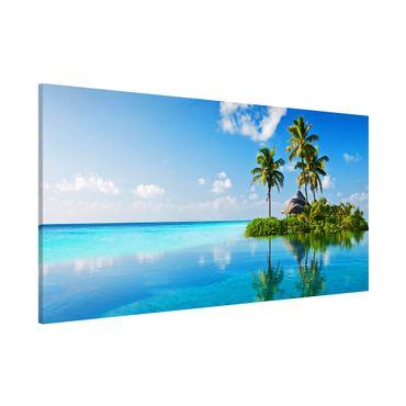 Magnettafel - Tropisches Paradies - Memoboard Panorama Quer