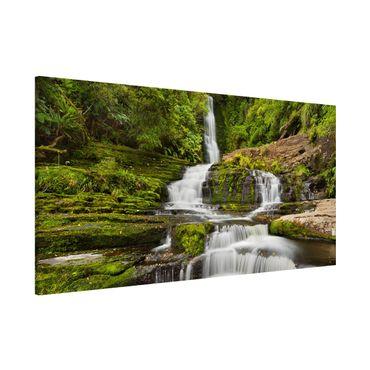 Magnettafel - Upper McLean Falls in Neuseeland - Memoboard Panorama Querformat