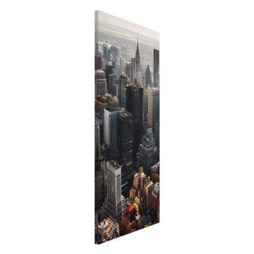 Magnettafel - Vom Empire State Building Upper Manhattan NY - Memoboard Panorama Hochformat